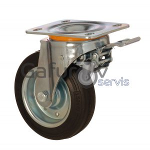 Industrial wheel for garbage bins and containers
