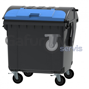 Plastic garbage container 1100 liters with round lid