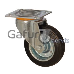 Industrial rubber wheel for garbage containers without brake