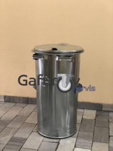 Metal bin with lid 110 liters
