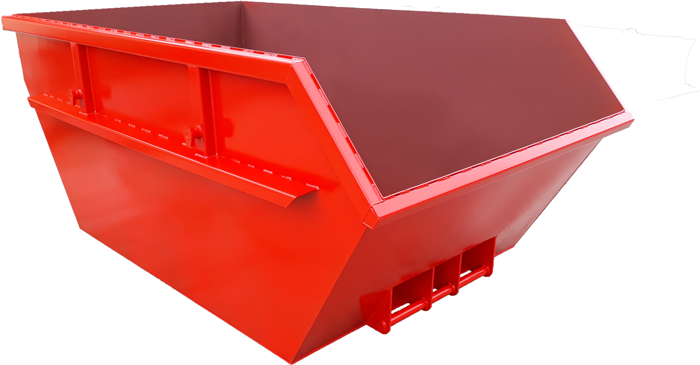 Metal container for construction waste with volume of 5 m3