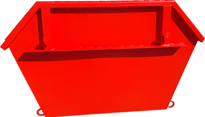 Metal container for construction waste with volume of 2 m3