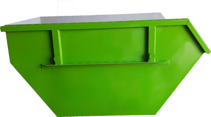 Metal container for construction waste with volume of 3 m3