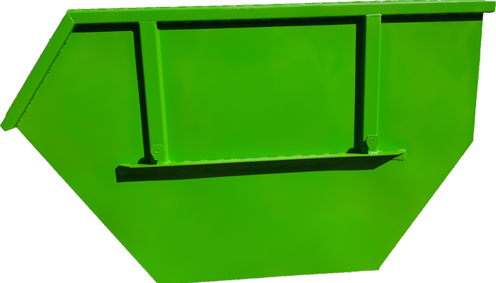 Metal container for construction waste with volume of 4 m3 according to DIN 30735