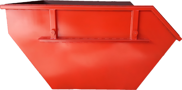 Metal container for construction waste with volume of 4 m3